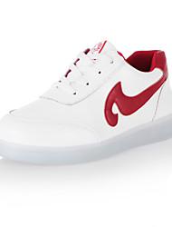 Per bambino Per bambina Da donna Da uomoTempo libero Casual Sportivo-Light Up Shoes-Piatto-Finta pelle-Nero Rosso