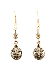 Fashion Women Vintage Monogram Drop Earrings