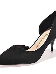 Women's Shoes Fleece Stiletto Heel Heels Heels Casual Black / Gray / Multi-color