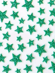 Lovely Green Western Style Star 3D Nail Stickers