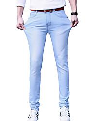 Masculino Calça Casual Cor Solida Algodão Manga Comprida Masculino