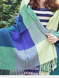 Korea Long Spell Color plaid Scarf Scarves