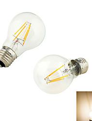 2 pièces YouOKLight E26/E27 4W 4/PCS COB 320 lm Blanc Chaud B edison Vintage Ampoules à Filament LED AC 100-240 V