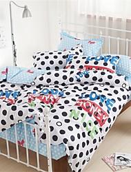 100% algodón 4pc sistemas de la cubierta de la manera cómoda edredón, la reina / king size