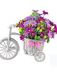 decoração bicicleta flor de plástico casa triciclo branco moto projeto da flor cesta planta weddding decoração diy