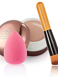 Kontur Gesichtscreme Make-up Concealer + Holzgriff Bürste + Schwamm puff Make-up Basis Grundlage Concealer für Make-up