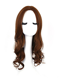 Women's Fashionable Brown Color Long Length Top Quality Synthetic Wigs