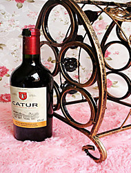Portable Five Bottles Of Red Wine Wrought Iron Creative Fashion Rack Ancient Bronze