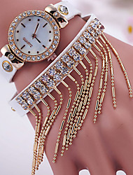 Women's Fashionable Leisure Retro Metal Tassel Diamond Watches Cool Watches Unique Watches