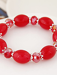 Summer European Style Fashion Metal Candy Beads Crystal Beaded Strand Bracelets