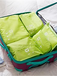 5 sets Travel Bag Luggage Organizer / Packing Organizer Portable for Luggage Accessory Travel StorageGray Green Blue Blushing Pink