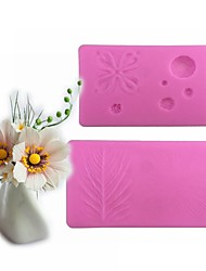2 Pieces Large Flowers Pattern Candy Fondant Cake Molds  For The Kitchen Baking Molds