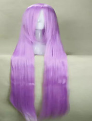 Anime Cosplay Wig Oblique Bangs  100cm Long  Yellow Purple Red  Straight Wig
