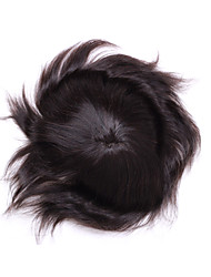 """8 """"* 10"""" мужской парик шнурка человеческих волос парики закрытия человеческих волос средней длины прически для тонких волос"""