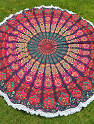 1.8m round Tapestries Screen Printed Fabric Indian Beach Sheet