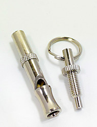 Dog Pet Toys Interactive Whistle Silver Aluminum