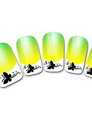 abstratos xf821 amarelo francês 3d adesivos de unhas
