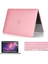 "3 in 1 cristallina caso soft-touch con coperchio della tastiera e Screen protector per MacBook Pro 13 ""/ 15 ''"
