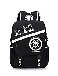 Bolsa Inspirado por Gintama Gintoki Sakata Anime Acessórios de Cosplay Bolsa / mochila Preto Tela Masculino / Feminino