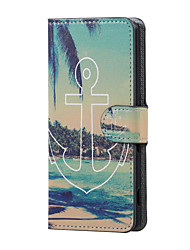 Anchor and Sea Magnetic PU Leather wallet Flip Stand Case cover for Asus Zenfone Max ZC550KL