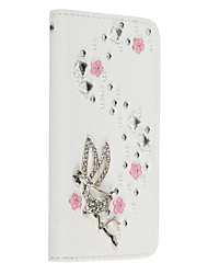 Bling Bling Crystal Diamond PU Leather Wallet Case Cover With Card Slots and Magnetic Flip For iPhone5/5s/SE