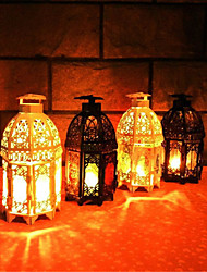 Classic Moroccan Decor Candle Holders Votive Iron Glass Hanging Candlestick Candle Lantern Party Home Wedding Decoration