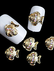 Lovely Mental Crown Disk Fish Nail Jewelry (at Least 10Pcs)