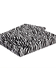 """conjunto de planos, 4 pieza rayas de cebra de microfibra negro con 12 """"profundidad de la bolsa"""