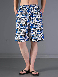 Man's Coconut Tree Design Plus Sizes Shorts