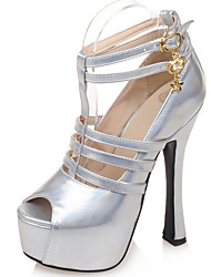 Women's Shoes Stiletto Heel/Gladiator/Open Toe Heels Sandals Wedding/Party & Evening/Dress Purple/Silver/Gold
