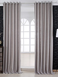 Two Panels Modern Solid Sage Living Room Linen/Polyester Blend Panel Curtains Drapes
