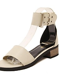 Women's Shoes Chunky Heel Gladiator Sandals Casual Black / Almond