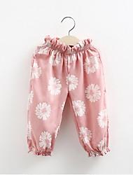 crianças roupa calças meninas bordar flores Nova marca as crianças usam calças casuais para meninas encantadoras