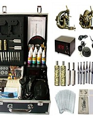 Basekey Tattoo Kit 2 Machines JHK0142 Machine With Power Supply Grips Cleaning Brush Ink Needles