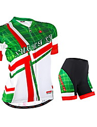NUCKILY® Cycling Jersey with Shorts Women's Short Sleeve Bike Breathable / Reflective Strips / Back Pocket / Jersey / Jersey +