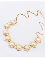 New 2016 Hot Chokers Necklaces Women Simulated Pearl Jewelry Trends Fashion Necklace For Gift Party Wedding