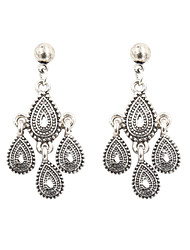 Fashion Women Vintage Engraved Drop Earrings