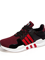Men's Shoes Outdoor / Office & Career / Athletic / Casual Fabric Fashion Sneakers Black / Red / Gray