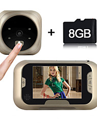 Besteye®3.0Inch Door Camera with 8GB TF Card 4 IR Night View Wide Angle Lens Digital Door Viewer