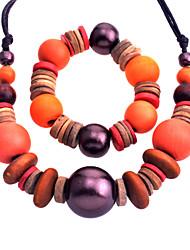 Bijoux Colliers décoratifs / Boucles d'oreille Collier / Boucles d'oreilles Mariage / Soirée Bois 1set Femme Orange Cadeaux de mariage