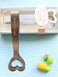 Gimme Some Sugar! Stainless-Steel Heart-Themed Sugar Tongs