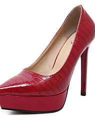 Women's Shoes Leatherette Chunky Heel Heels / Basic Pump / Comfort / NoveltySandals / Fashion Sneakers /