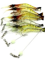 """1 pcs Lagostins-de-rio / Camarão Cores Aleatórias 7 g/1/4 Onça,75-10 mm/3"""" polegada,PlásticoIsco de Arremesso Pesca de Isco Pesca de Isco"""