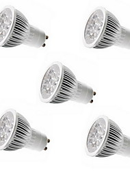 5pcs 5W GU10/GU5.3/E27/E14 5LEDS 550LM Warm/Cool White Color Light LED Spot Lights(85-265V)