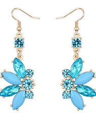 Shiny Colorful Small Butterfly Alloy Pierced Drop Earrings Fashion Female Models Cute Women Vintage Jewelry