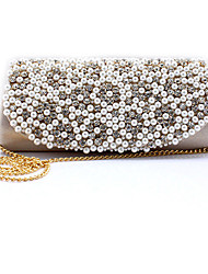 Women Other Leather Type Baguette Clutch-Gold / Red / Silver / Black