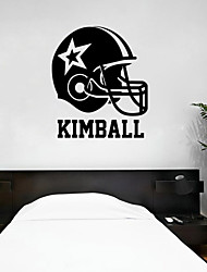 4048 Football Helmet Name Vinyl Wall Decal Custom Kids Vinyl Sticker Wall Sticker Home Decoration Wallpaper