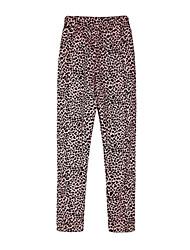 Pantalones Chica de-Todas las Temporadas-Algodón-Marrón