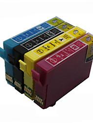 bloom®t1631-t1634 cartouche d'encre compatible pour epson wf-2010w / wf-2510wf / wf-2520nf / wf-2530wf pleine encre (4 couleurs 1 jeu)