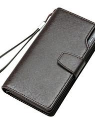 Long Luxury Clutch Car Leather Card Holder Men Wallets Purse Male Bag 2015 Famous Brand Designer